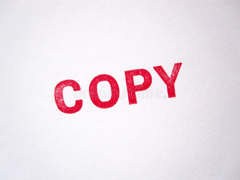 Sello legal rojo de la copia