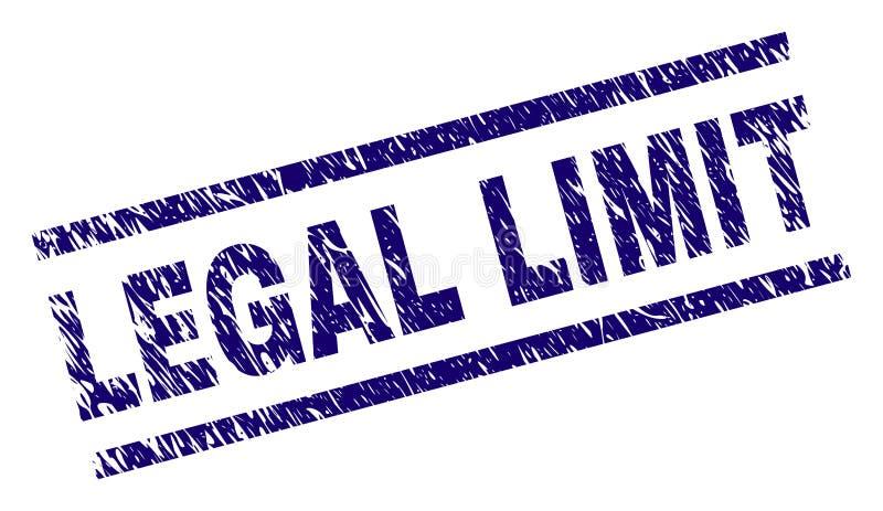 Sello LEGAL texturizado Grunge del sello del LÍMITE stock de ilustración
