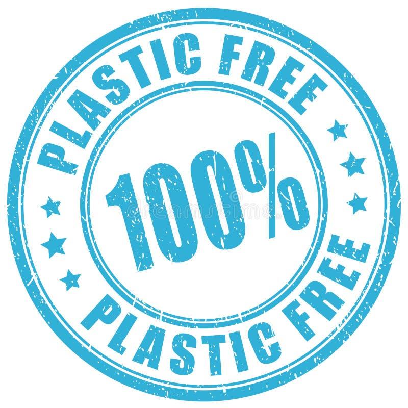 Sello libre de plástico ilustración del vector