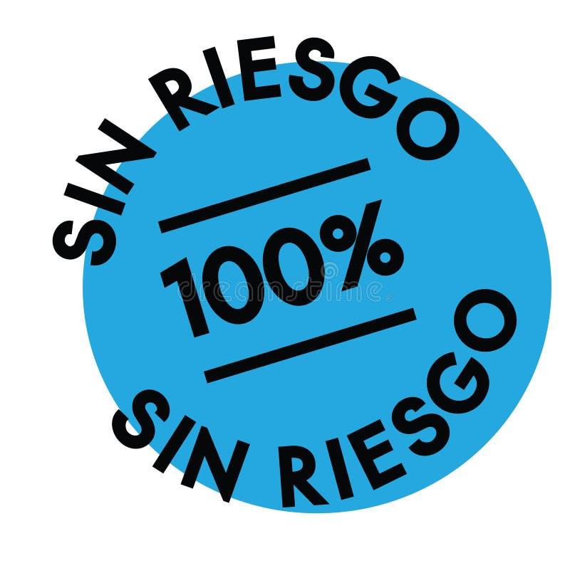 Sello libre del riesgo en español ilustración del vector