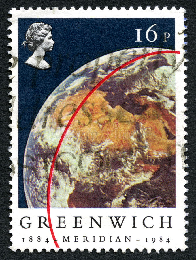 Sello meridiano de Greenwich foto de archivo