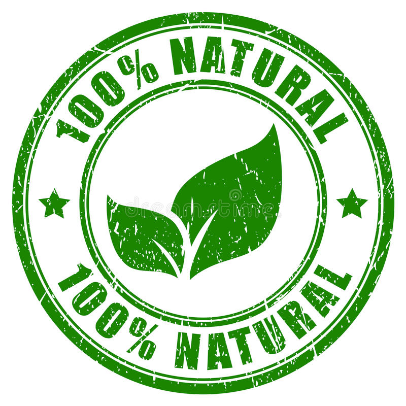 sello natural 100 ilustración del vector
