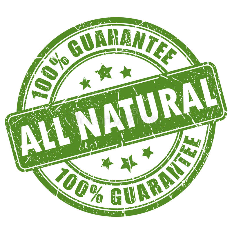 Sello natural de la garantía libre illustration
