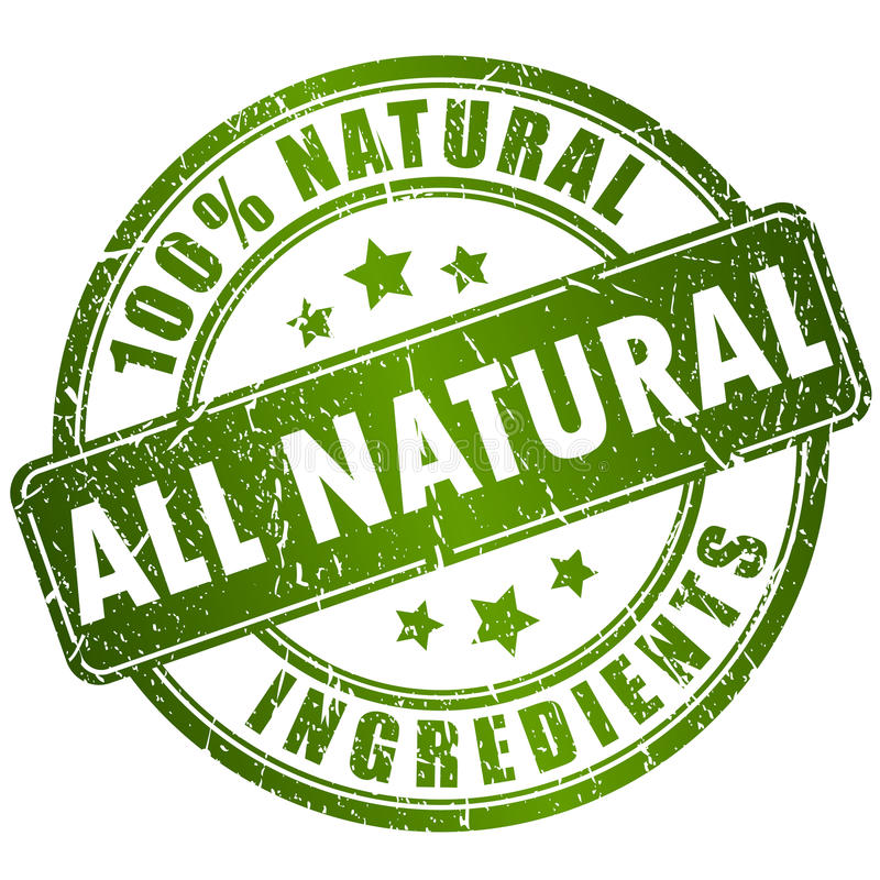 Sello natural de los ingredientes ilustración del vector