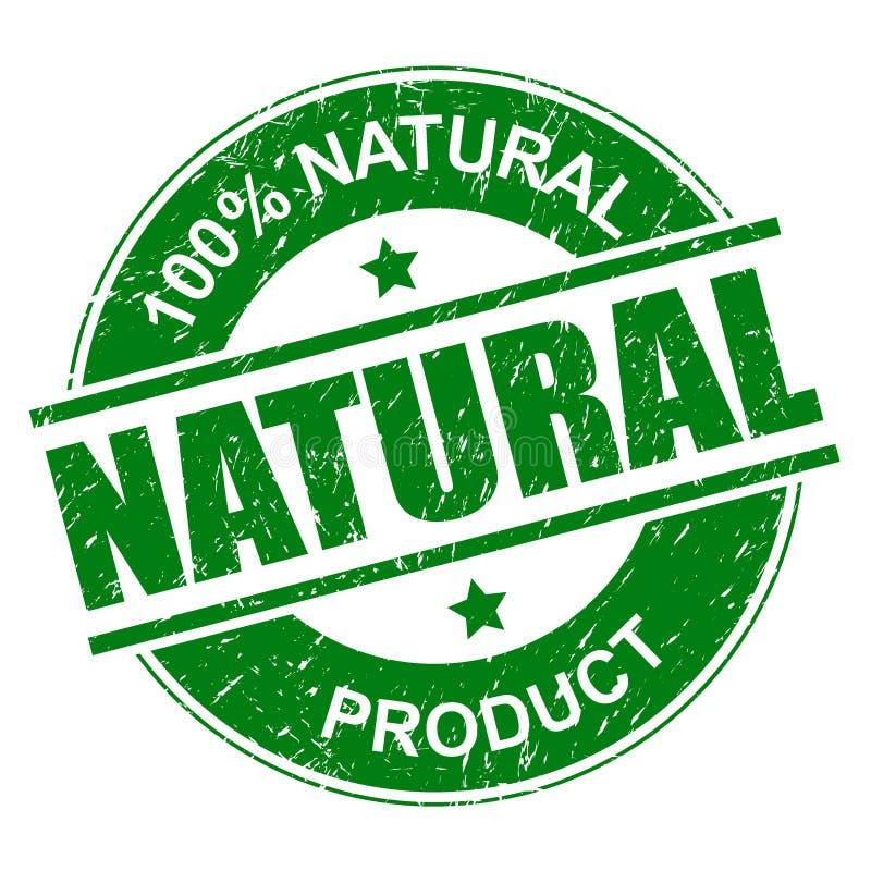 sello natural del 100% libre illustration