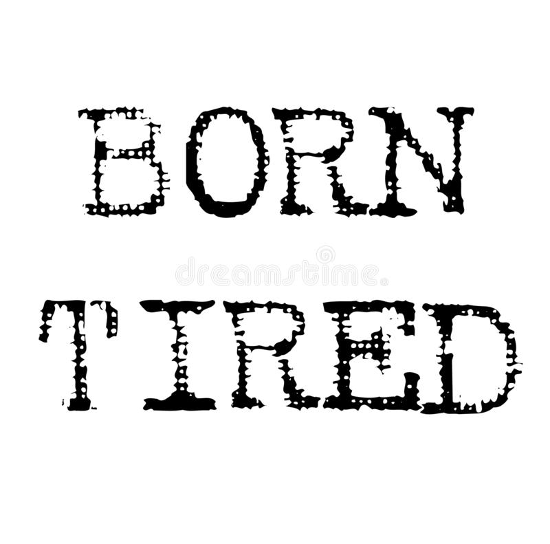 Sello negro cansado nacido stock de ilustración