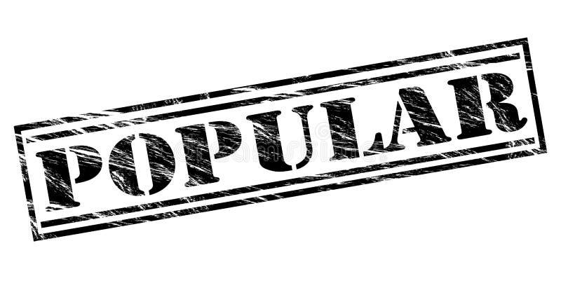 Sello negro popular stock de ilustración