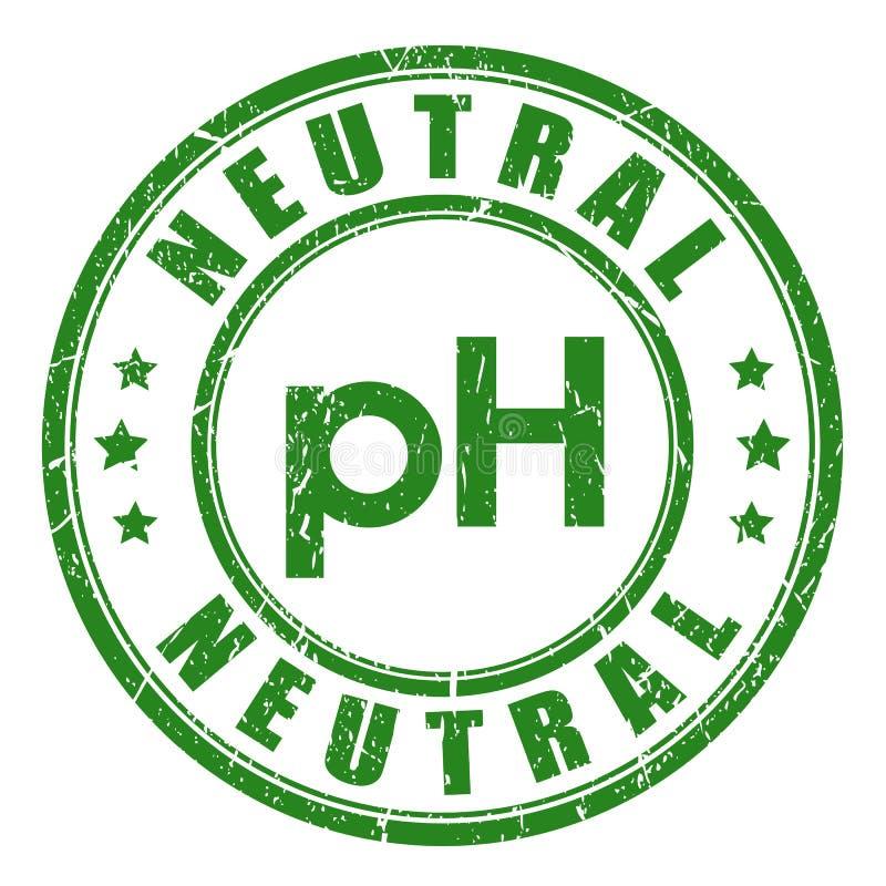 Sello neutral del vector de la balanza del pH stock de ilustración