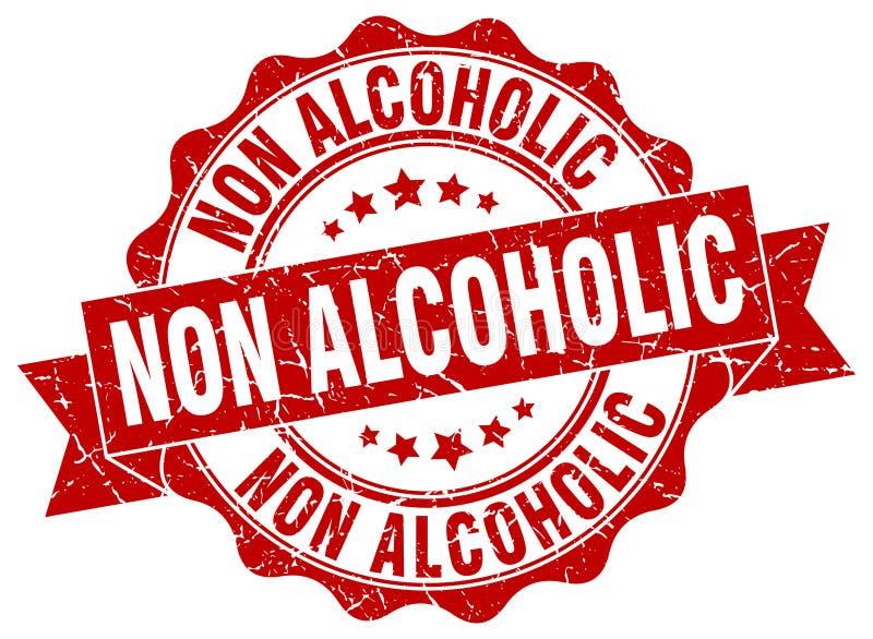 sello no alcohólico sello ilustración del vector