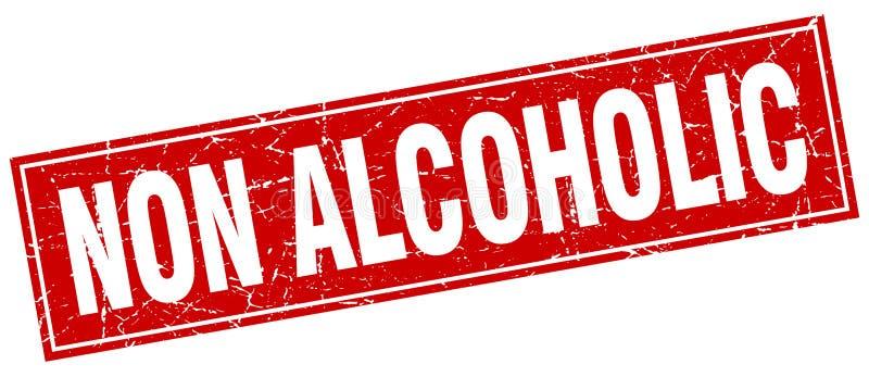 sello no alcohólico stock de ilustración