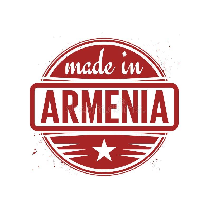 Sello o sello abstracto del vintage con el texto hecho en Armenia stock de ilustración