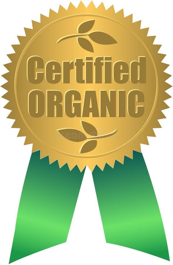 Sello orgánico certificado/EPS stock de ilustración