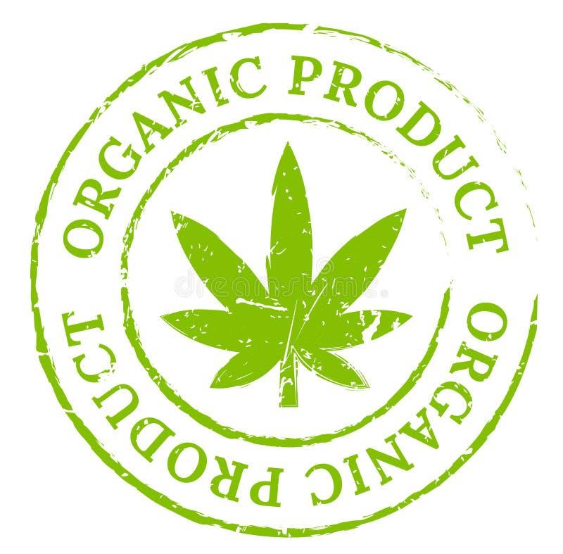 Sello orgánico verde de la marijuana del cáñamo ilustración del vector