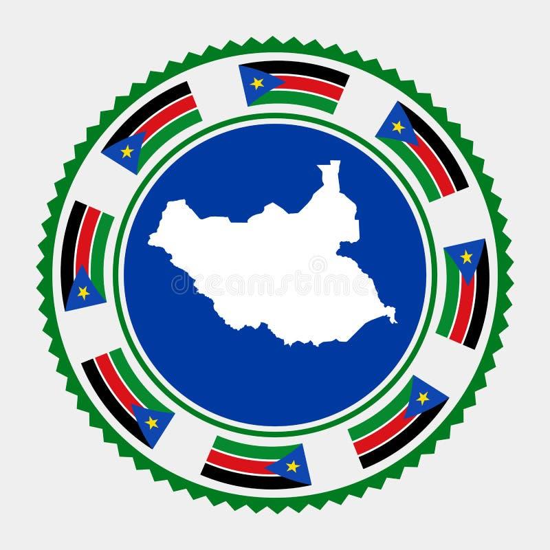 Sello plano del sur de Sudán ilustración del vector
