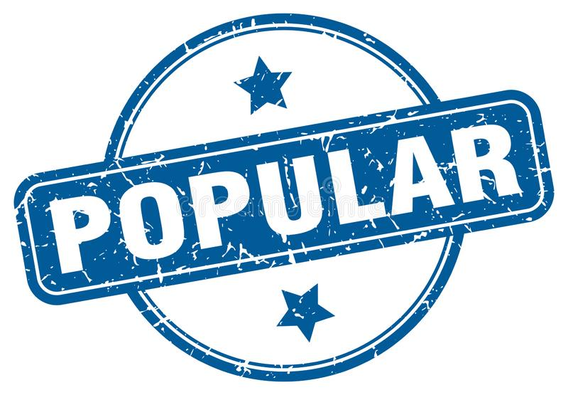 Sello popular stock de ilustración