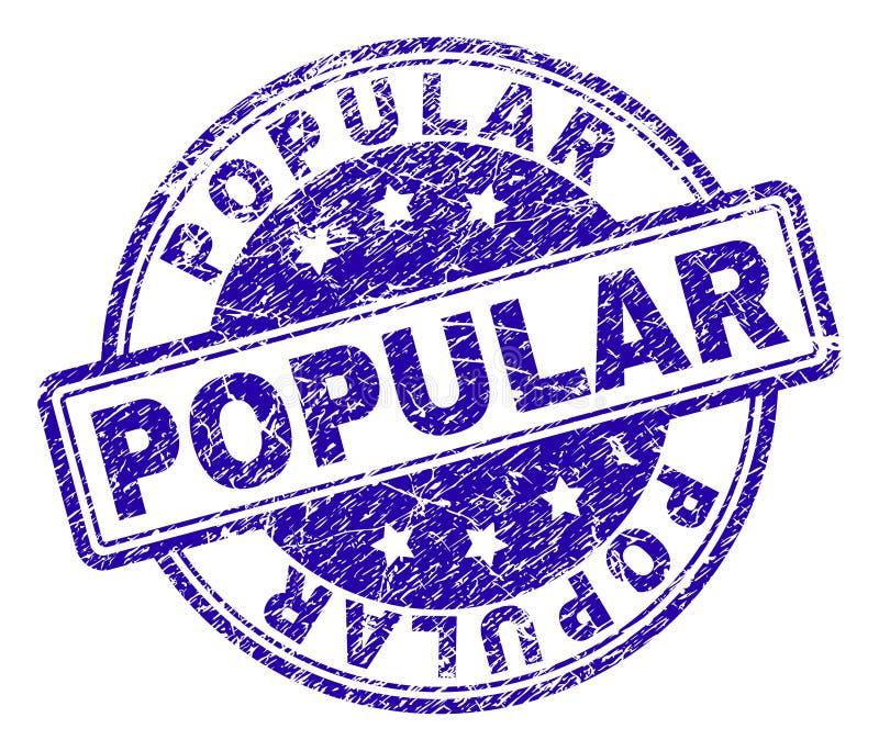 Sello POPULAR texturizado rasguñado del sello ilustración del vector