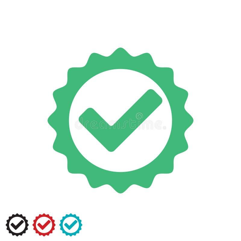 Sello probado y certificado marca de verificaci?n de la calidad del 100 por ciento libre illustration
