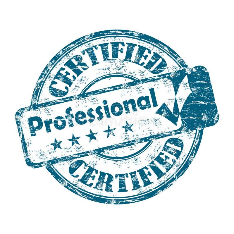 Sello Profesional Certificado Ilustración del Vector - Ilustración ...