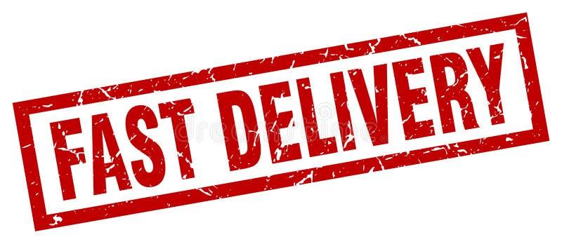 Sello rápido de la entrega stock de ilustración
