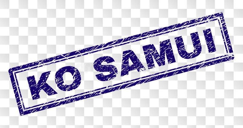 Sello rasguñado del rectángulo del knock-out SAMUI stock de ilustración