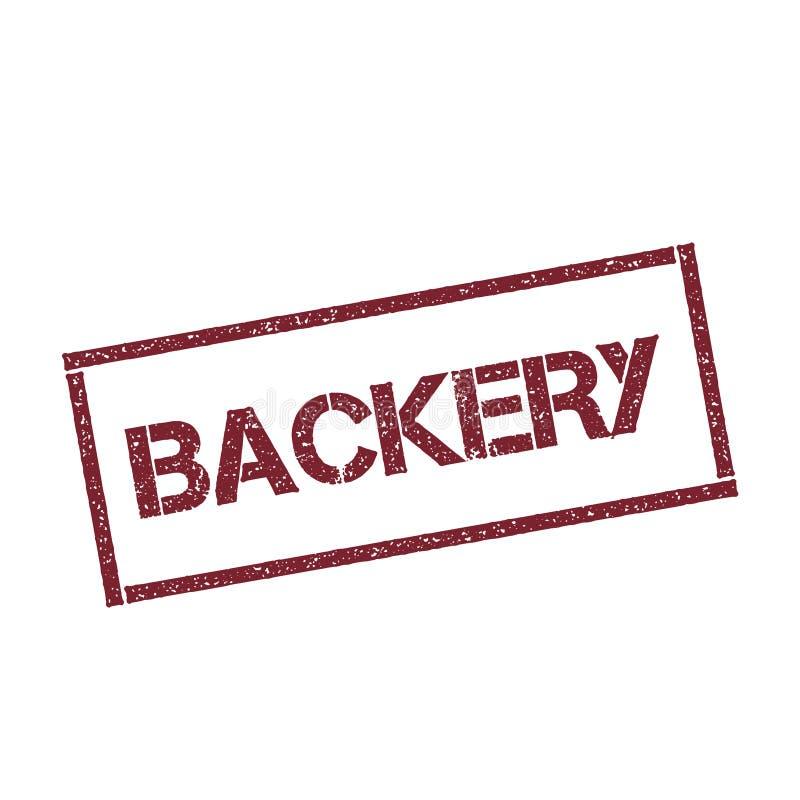 Sello rectangular de Backery libre illustration