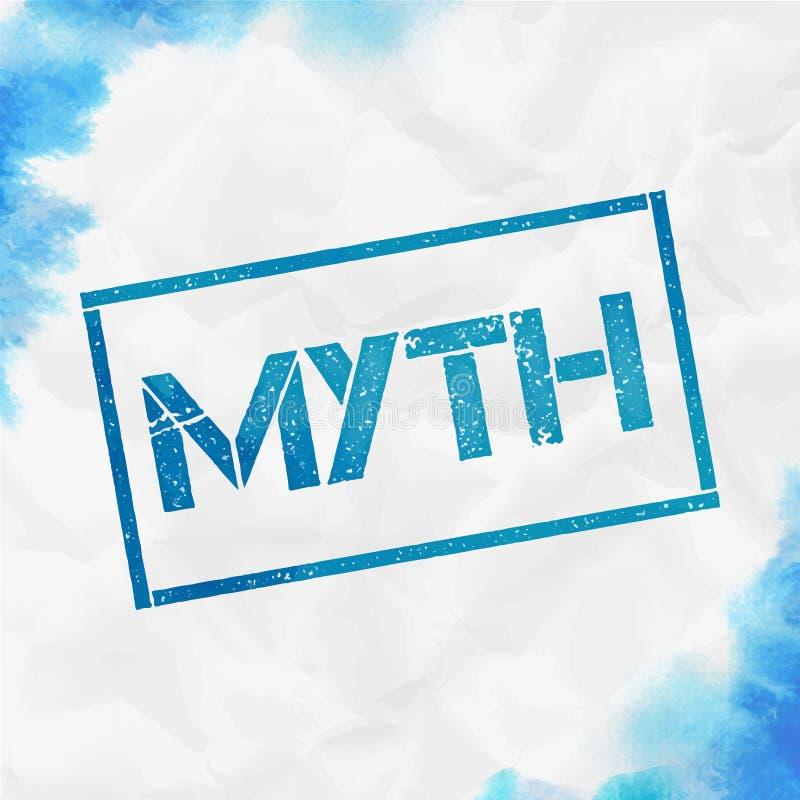 Sello rectangular del mito libre illustration