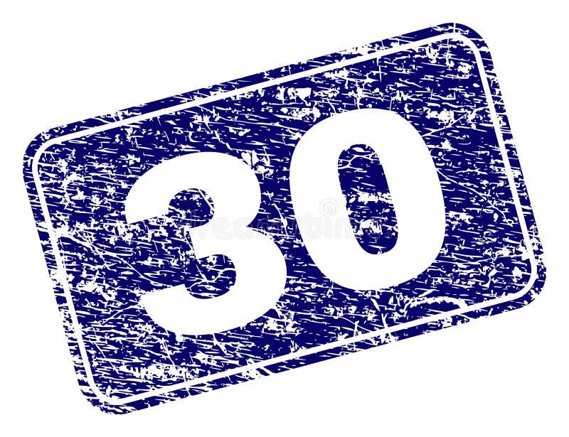 Sello redondeado enmarcado del rectángulo del Grunge 30 libre illustration