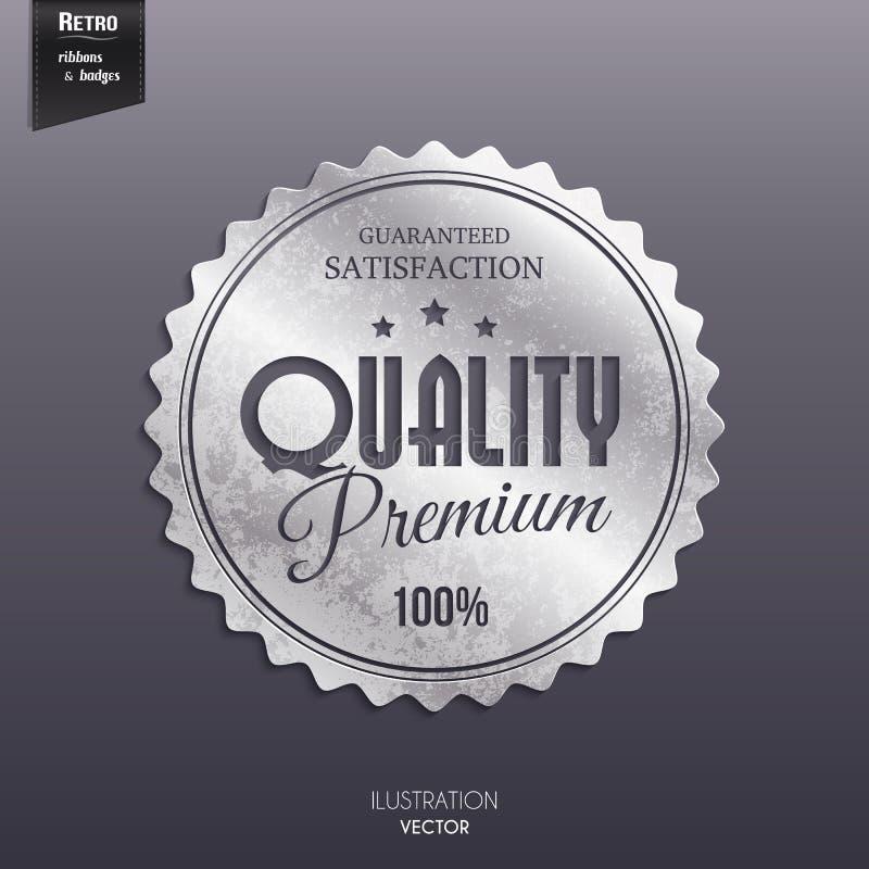 Sello retro de plata, etiqueta engomada, etiqueta, etiqueta, insignia encendido libre illustration