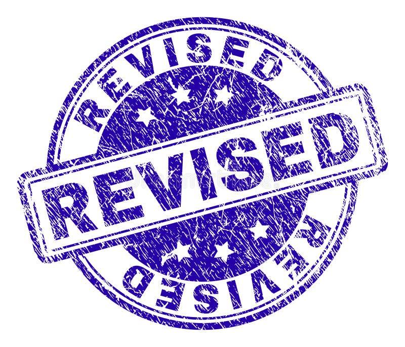 Sello REVISADO texturizado rasguñado del sello stock de ilustración