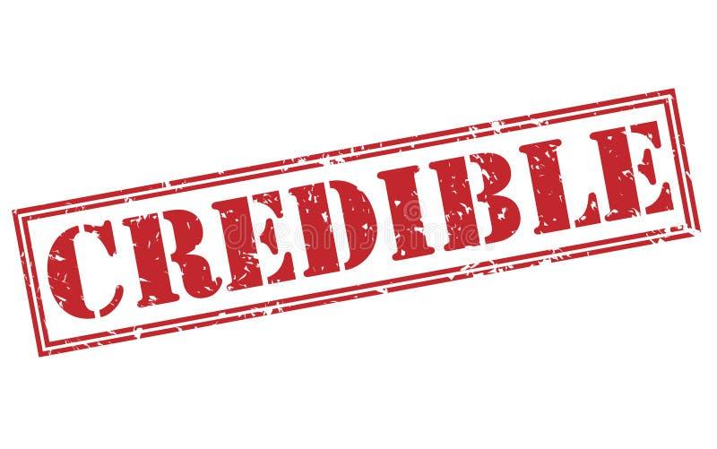 Sello rojo creíble stock de ilustración