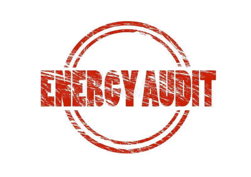 Sello rojo de la auditoría de energía libre illustration