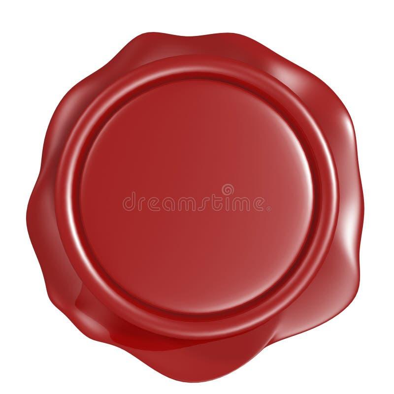 Sello rojo de la cera stock de ilustración