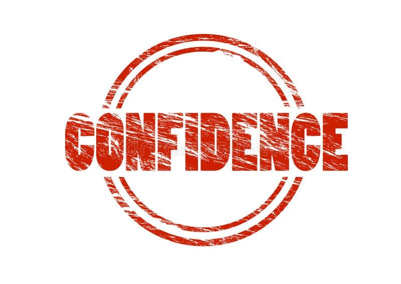 Sello rojo de la confianza stock de ilustración