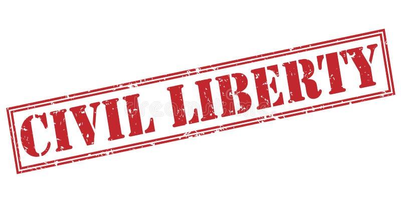 Sello rojo de la libertad civil ilustración del vector