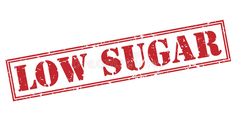 Sello rojo de poca azúcar libre illustration