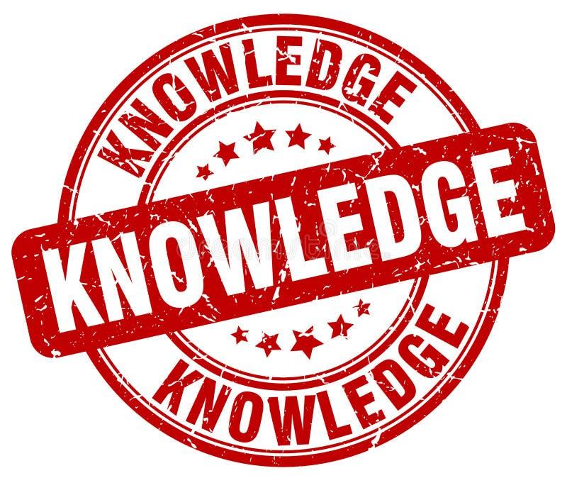 sello rojo del conocimiento stock de ilustración