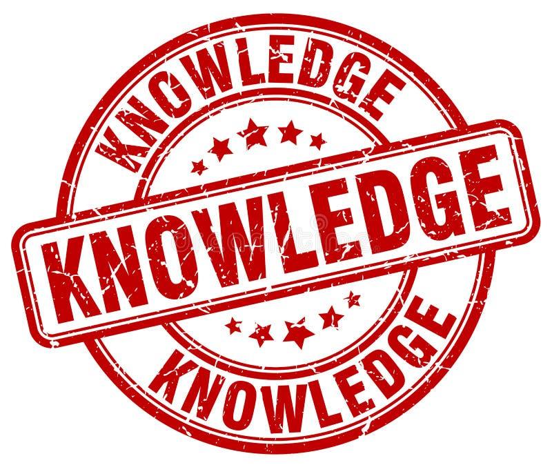 sello rojo del conocimiento libre illustration