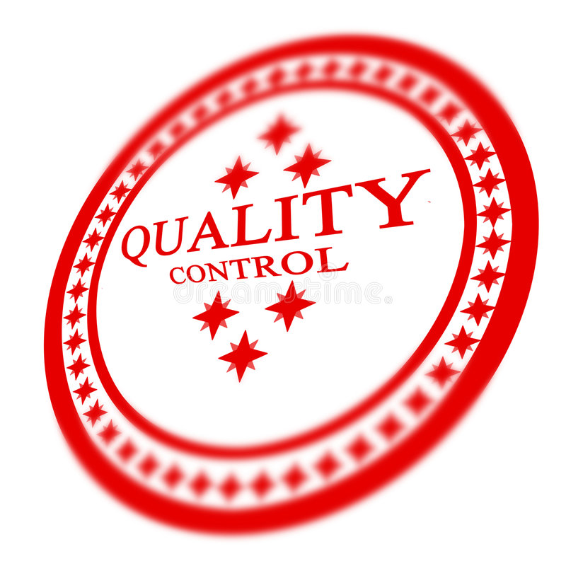 Sello rojo del control de calidad libre illustration