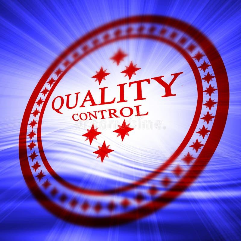Sello rojo del control de calidad stock de ilustración