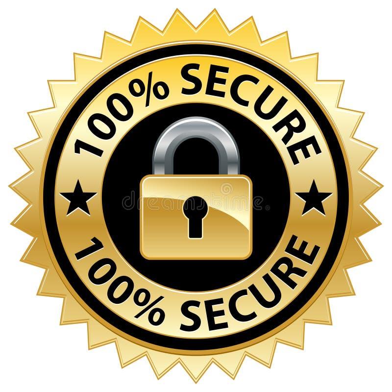 Sello seguro del Web site del 100% stock de ilustración