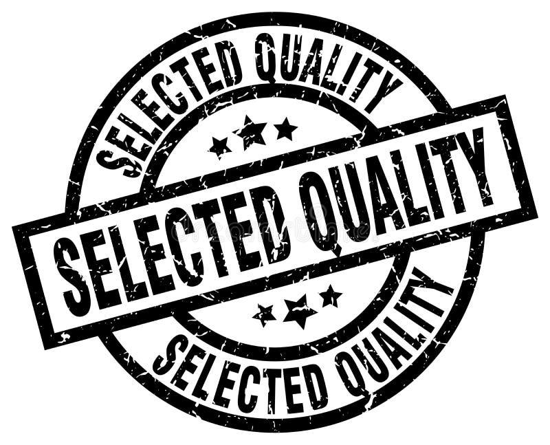 Sello seleccionado de la calidad ilustración del vector