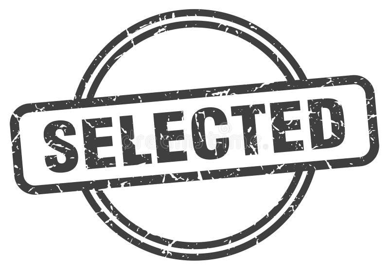 Sello seleccionado stock de ilustración