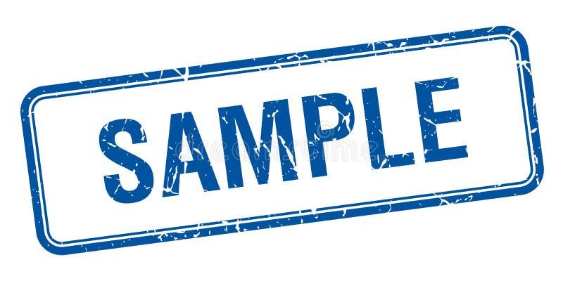 Sello sucio cuadrado azul del vintage de la muestra ilustración del vector
