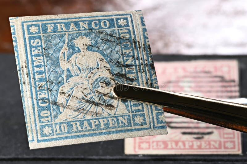 Sello suizo de Strubel foto de archivo libre de regalías