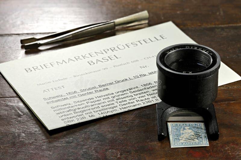 Sello suizo de Strubel imagen de archivo libre de regalías
