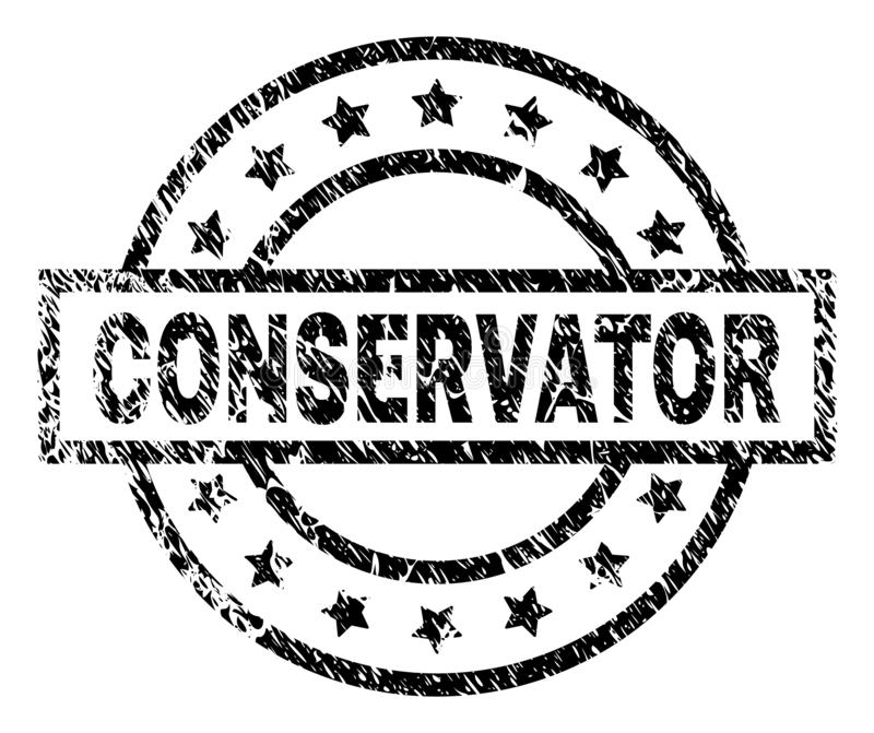 Sello texturizado Grunge del sello del CONSERVADOR libre illustration