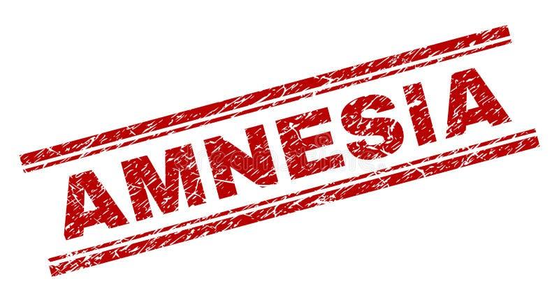 Sello texturizado Grunge del sello de la AMNESIA stock de ilustración