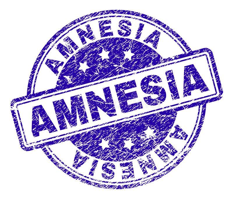Sello texturizado Grunge del sello de la AMNESIA ilustración del vector