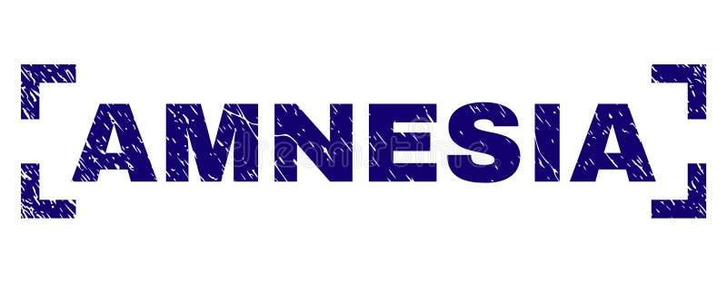 Sello texturizado Grunge del sello de la AMNESIA dentro de esquinas stock de ilustración