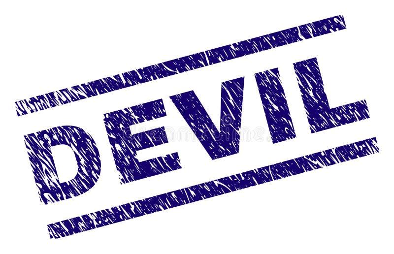 Sello texturizado Grunge del sello del DIABLO ilustración del vector